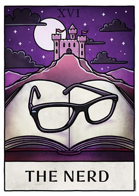 Deadly Tarot Life - The Nerd Mini Poster
