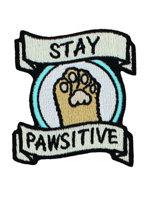 Stay Pawsitive Iron On Patch