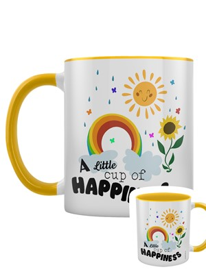 A Little Cup of Happiness Yellow Inner 2-Tone Mug