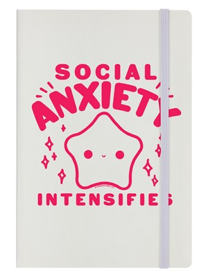 Social Anxiety Intensifies Cream A5 Hard Cover Notebook