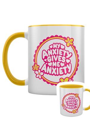 My Anxiety Gives Me Anxiety 2-Tone Mug