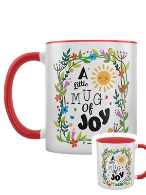 A Little Mug of Joy Red Inner 2-Tone Mug