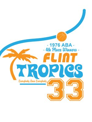 flint tropics 33 white men s t shirt inspired by semi pro buy rh grindstore com flint tropics logo vector flint tropics logo vector