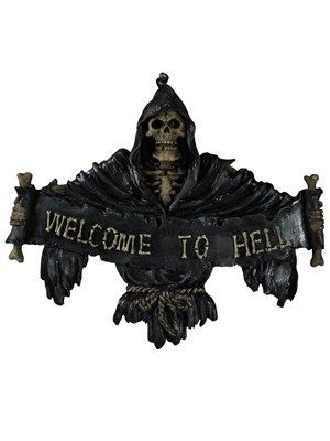 Welcome To Hell Gothic Plaque