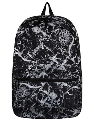 Black Mineral Graphic Backpack
