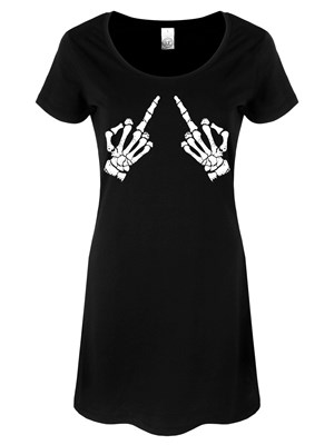 Up Yours Ladies Black T-Shirt Dress