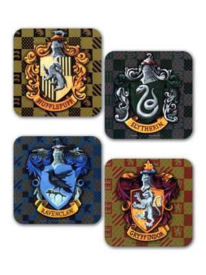 Harry Potter House Crests Coaster Set