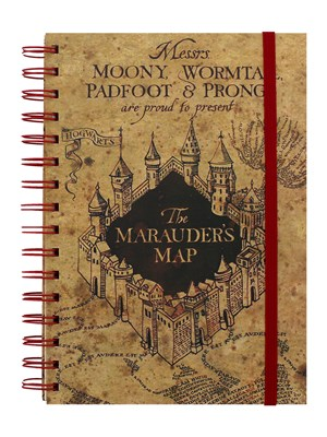 Harry Potter The Marauders Map A5 Notebook