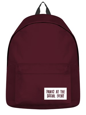 Panic! At The Social Event Burgundy Backpack