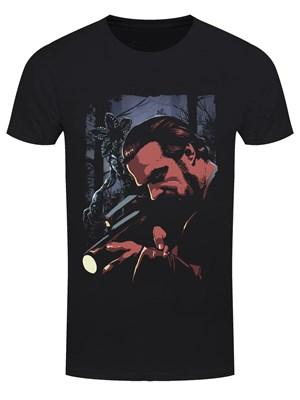 Chief Hopper Men's Black T-Shirt