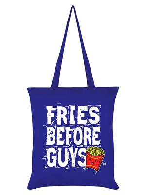 Fries Before Guys Royal Blue Tote Bag