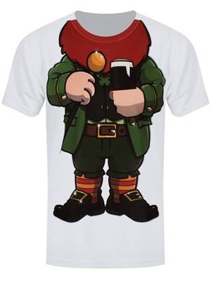 Cheeky Leprechaun Men's White Sub T-Shirt