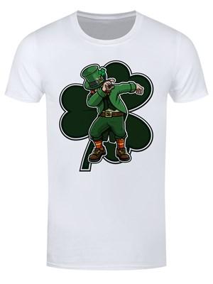 Leprechaun Dab Men's White T-Shirt
