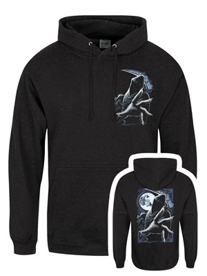 Requiem Collective Enslaved Reaper Men's Black Smoke Hoodie