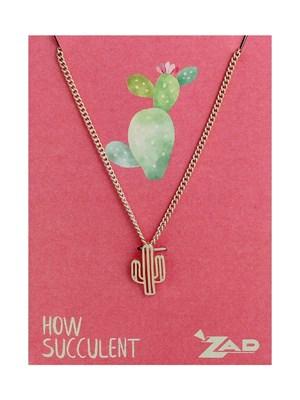 Cute Cactus Charm Necklace