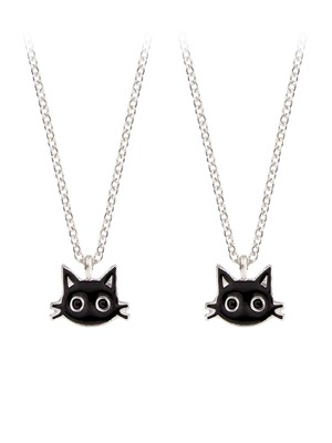 Me-ow & You BFF Necklace Set
