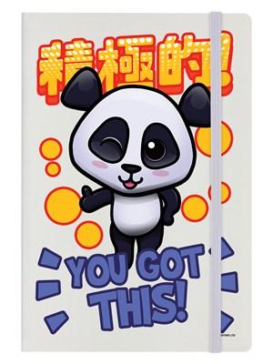 Handa Panda You Got This! Cream Notebook