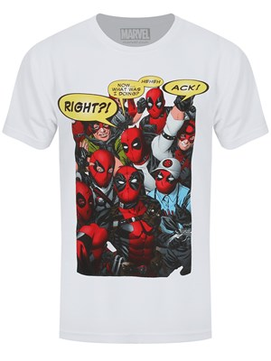 Marvel Deadpool Cosplay Men's White T-Shirt