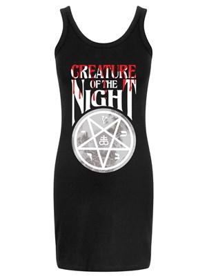 Creature Of The Night Ladies Black Tank Mini Dress