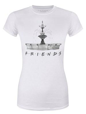 Friends Fountain Ladies White T-Shirt