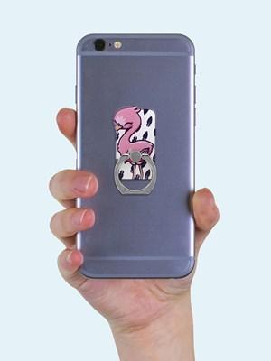 Flamingo Phone Ring & Stand