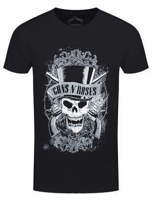 Guns N Roses Faded Skull Men's Black T-Shirt