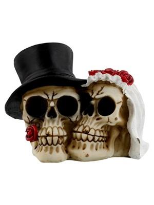 Together Forever Wedding Skull Ornament