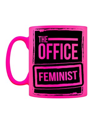 The Office Feminist Pink Neon Mug
