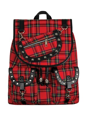 Banned Yamy Red Tartan Backpack