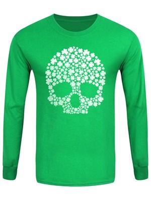 St Patricks's Day Lucky Skull Men's Long Sleeved T-Shirt