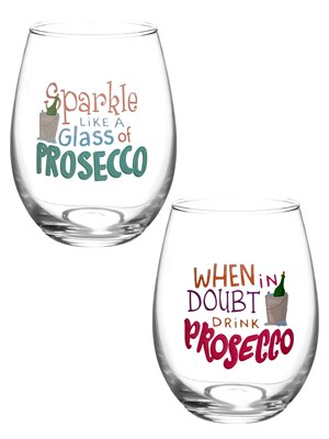 Pop The Prosecco Glass Tumblers - Set Of 2