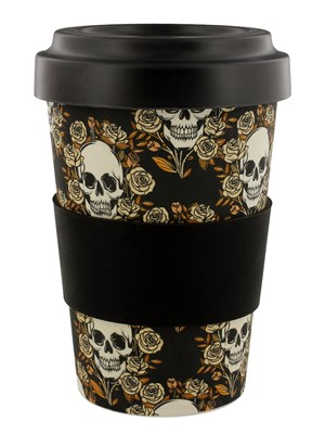 Skulls & Roses Eco-Friendly Biodegradable Bamboo Travel Cup