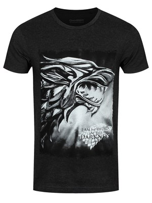 Game Of Thrones I Am The Sword Men's Charcoal T-Shirt
