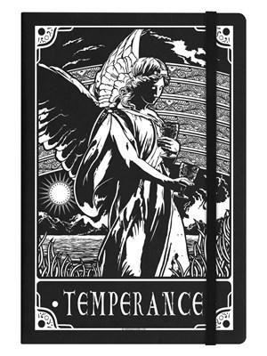 Deadly Tarot Temperance Black A5 Hard Cover Notebook