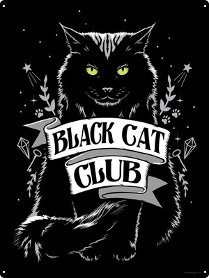 Black Cat Club Tin Sign