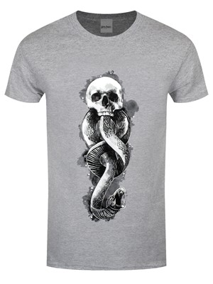 Harry Potter Dark Arts Snake Men's Grey T-Shirt