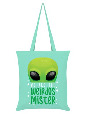 We Are The Weirdos Mister Alien Mint Green Tote Bag