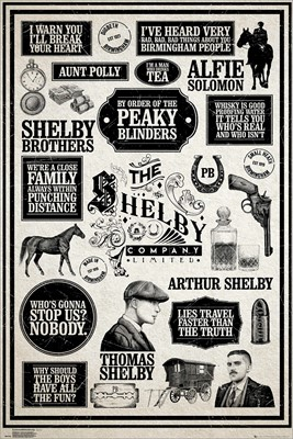 Peaky Blinders Infographic Poster