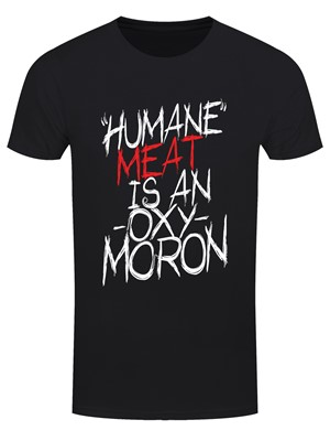 'Humane' Meat Is An Oxymoron Vegetarian Men's Black T-Shirt