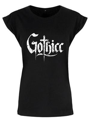 Gothicc Ladies Premium Black T-Shirt