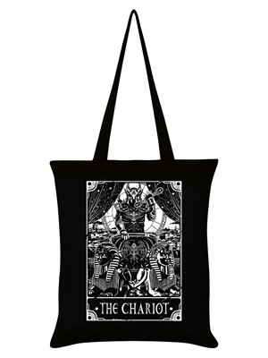 Deadly Tarot - The Chariot Black Tote Bag