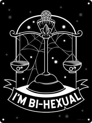 Witch Please I'm Bi-Hexual Mini Tin Sign