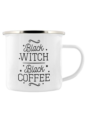 Black Witch Black Coffee Enamel Mug