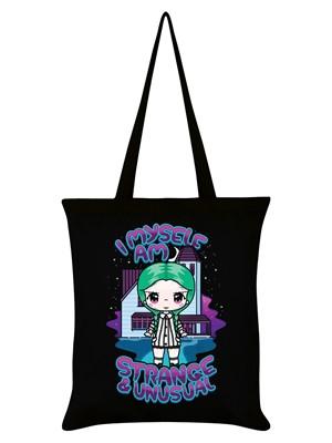 Mio Moon I Myself Am Strange & Unusual Black Tote Bag