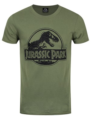 Jurassic Park Mono Logo Men's Green T-Shirt