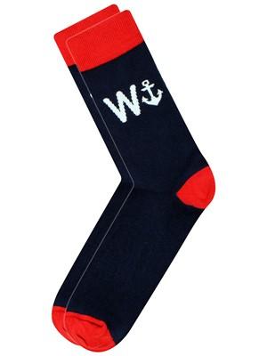 Cockney Spaniel W Anchor Men's Novelty Socks