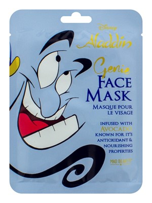Disney Aladdin Genie Avocado Oil Sheet Face Mask