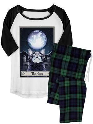 Deadly Tarot Felis - The Moon Ladies Long Pyjama Set