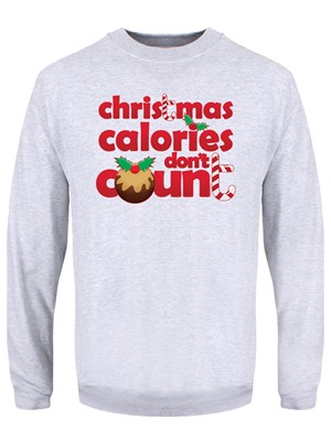Christmas Calories Don't Count Men's Grey Christmas Jumper