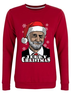 Jerry Christmas Ladies Red Christmas Jumper
